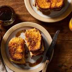 Monte Cristo with Orange and Rosemary Maple Syrup