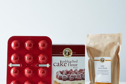 Donut Hole Pan, Triple Cocoa & Cake Flour Bundle