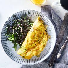 Potato Chip & Chive Omelette