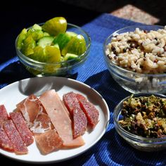 Basket Supper Spread, with Olive Salad