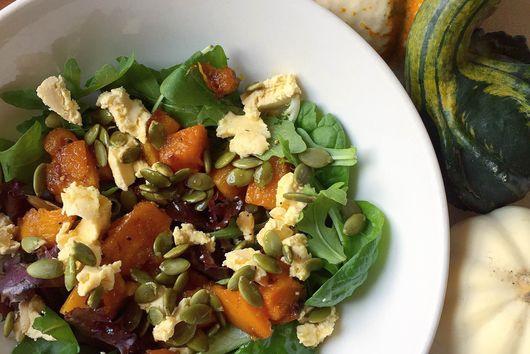 Fall Squash Salad with Maple White Wine Vinaigrette