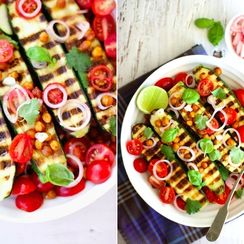 Zucchini and Chickpea Salad