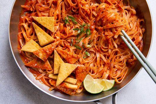Lisa Lin's Sambal Noodles With Pan-Fried Tofu