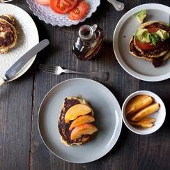 Cornmeal and Chorizo Pancakes