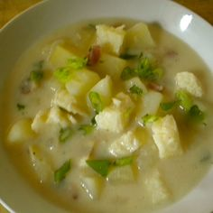 Potato, Cod and Bacon Chowder
