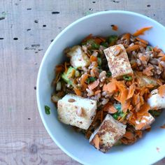 Tangy Miso & Avocado Farro Salad