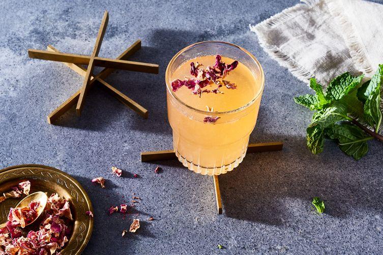 Rosebud (Cointreau, Vodka, Rosewater, Cucumber & Mint Cocktail)