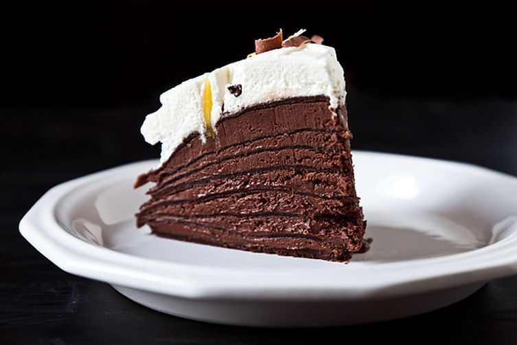 Spicy Chocolate Mousse Crepe Cake
