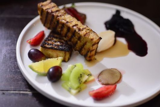 Grilled Banana 'Bread' French Toast
