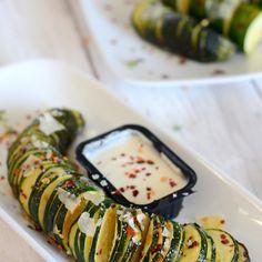Hasselback Zucchini