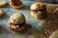 Country Ham Biscuit with Fig Jam