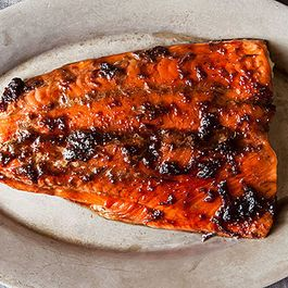 Dinner Tonight: Ginger Soy Glazed Salmon + Miso Salad