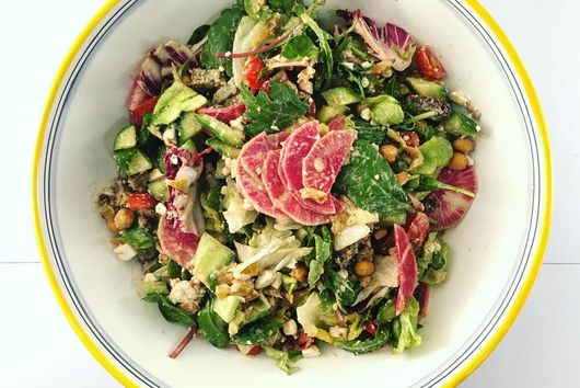 Falafel and Crispy Chickpea Chopped Salad