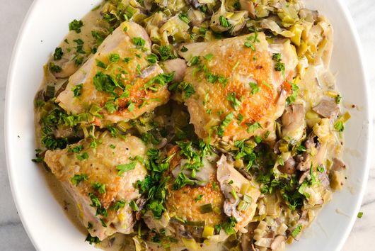 Creamy Chicken with Mushrooms & Leeks