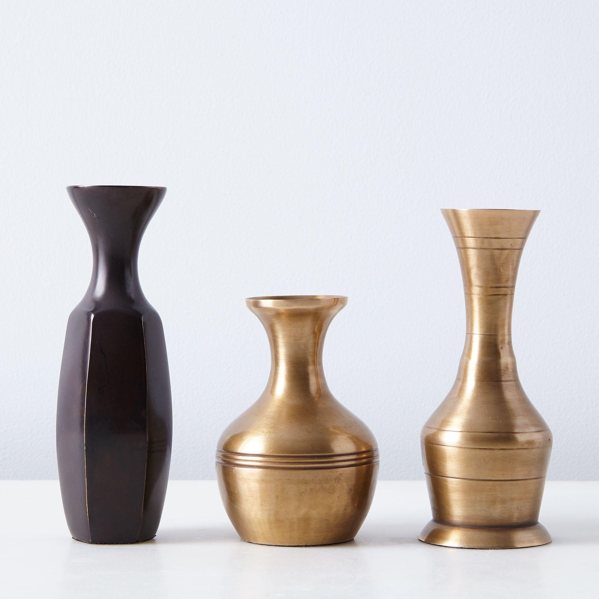 food52 vintage inspired brass bud vases set of 3 on food52