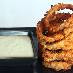 Baked Nacho Cheese Crusted Onion Rings