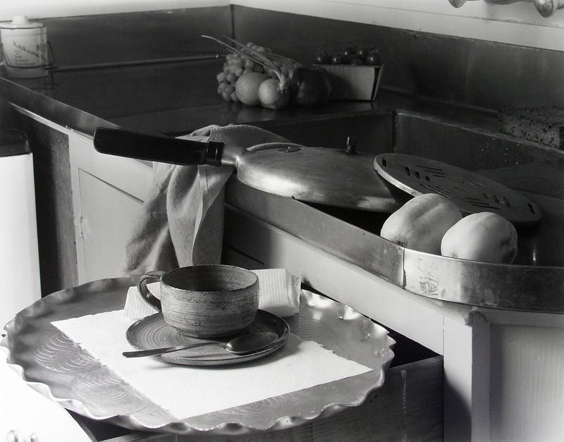 Imogen Cunningham, My Kitchen Sink, 1947; did these dishes hold the meal that killed Gertrude? (Image courtesy of Imogen Cunningham Trust)