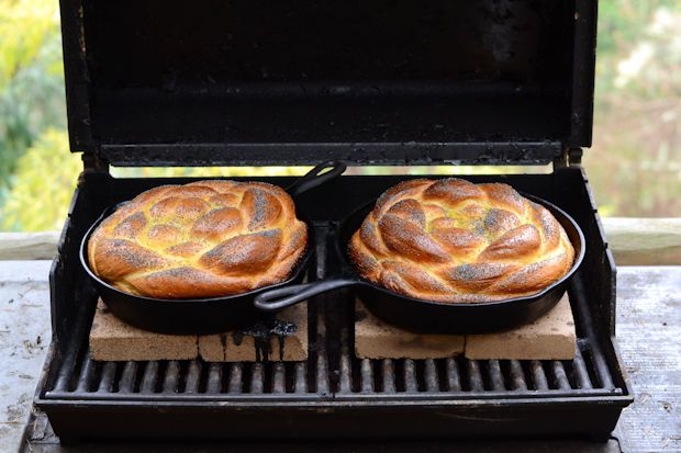 challah baked in a barbecue // Wayward Spark