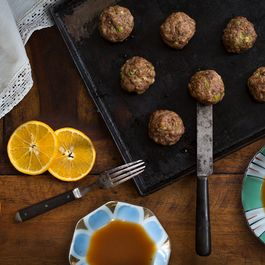 Duck Meatballs à L'Orange