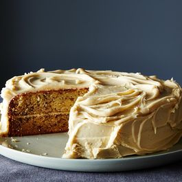 Banana Cake with Penuche Frosting