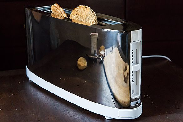 Making toast!