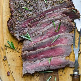 D70831c9 ab14 45d6 bde5 8c0cc2930810  peppercorn and herb crusted flank steak