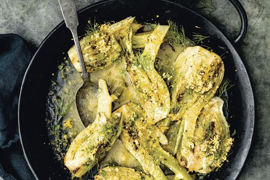 Bryant Terry's Citrus & Garlic-Herb Braised Fennel