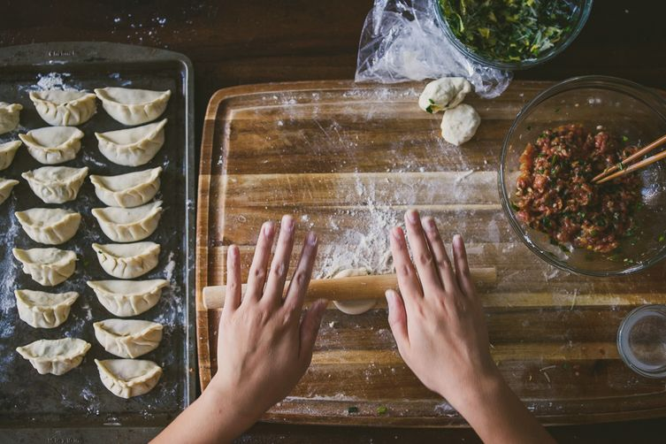 Image result for wrapping dumpling