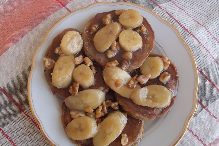Roasted Banana and Walnuts Pancakes with Banana-Coconut ...