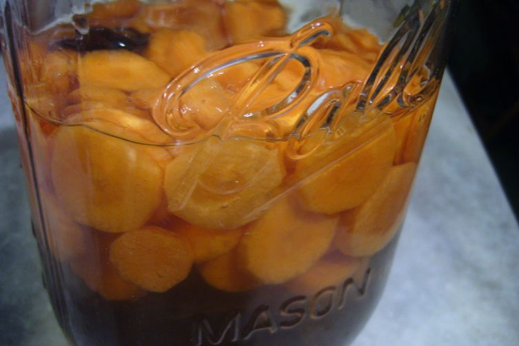 Maple-Bourbon Carrot Pickles
