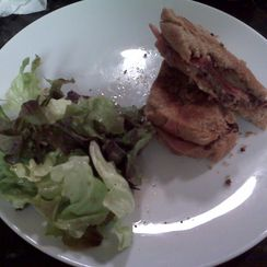 Grilled Manchego and Jamon Serrano with a Fig, Port, and Caramelized Onion Spread