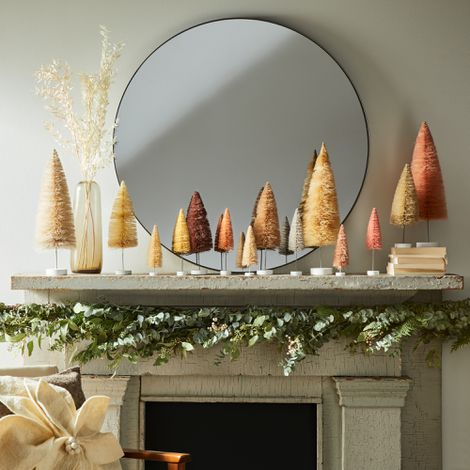 Modern Holiday Bottlebrush Trees (Set of 6)