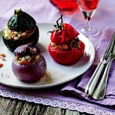 Clotilde Dusoulier's Stuffed Vegetables with Beans and Barley