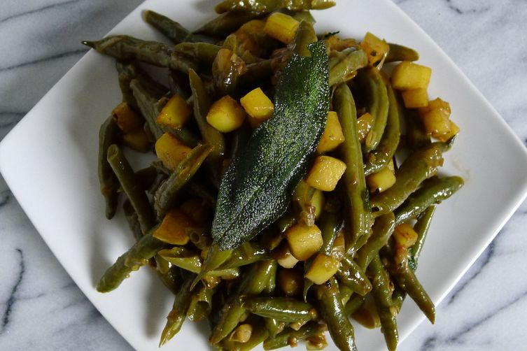 Apple-icious Green Beans with Sage Brown Butter