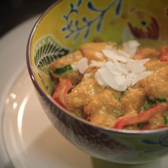 Pumpkin Curry with Brown Coconut Rice