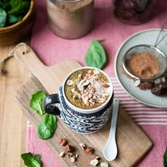 Warm Hazelnut Chocolate Green Smoothie