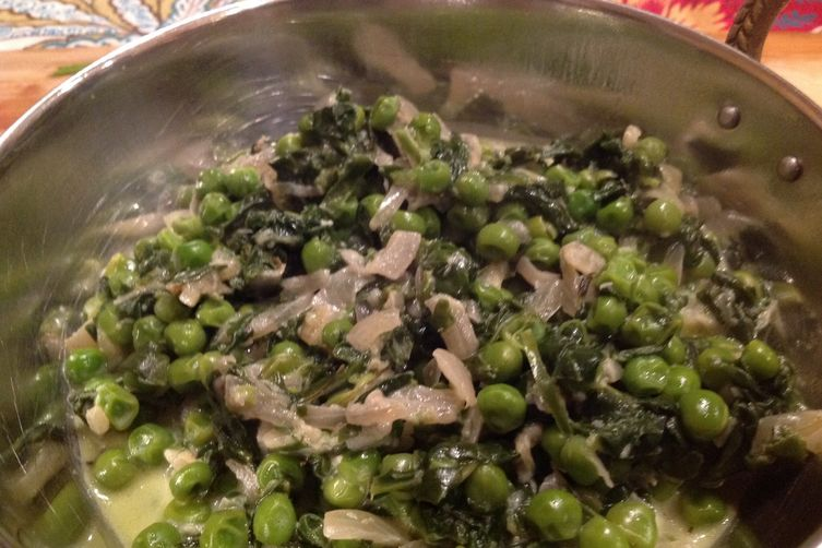 Methi Malai Peas and Spinach