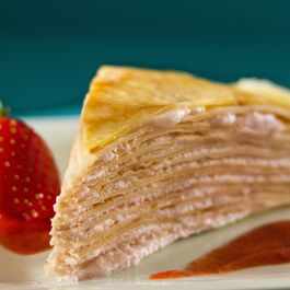 Strawberry Cream Mille Crepe Cake