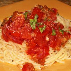Spaghettini with Roasted Heirloom Tomatoes