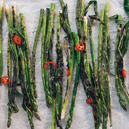 Grilled Greens with Pickled Chili