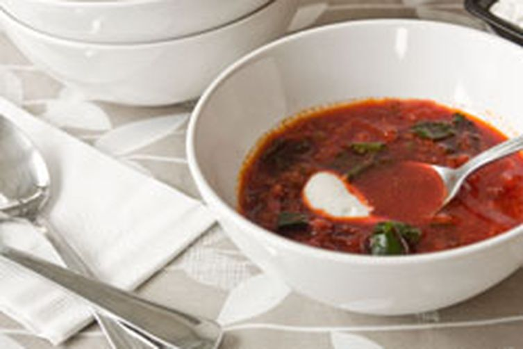 Whole Beet Soup with Lentils and Cumin
