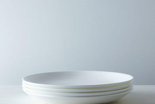 Purio White Dinner Plates (Set of 4)
