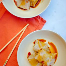 Gluten-free vegan dumplings | Rice paper pockets