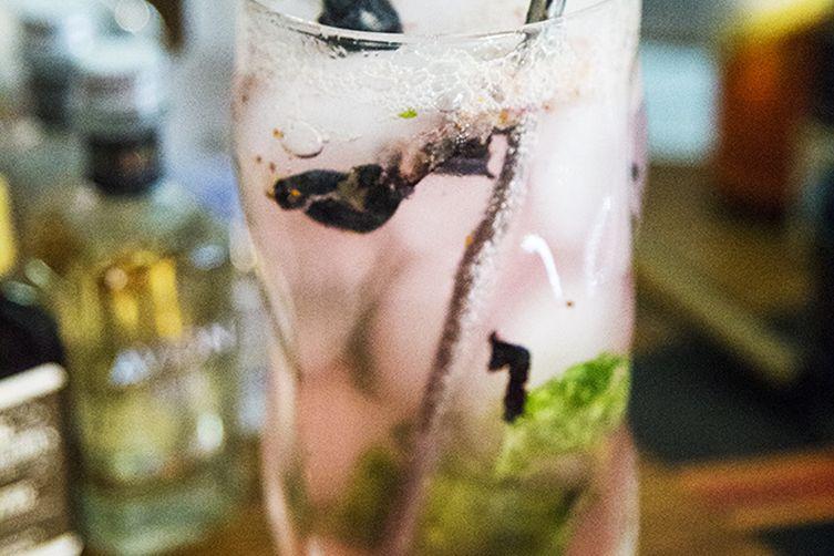 Blueberry Basil Lemonade Splash
