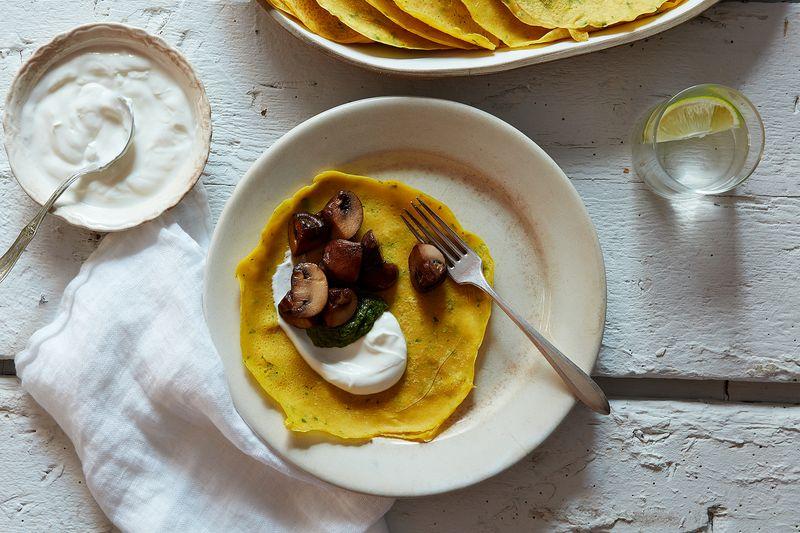 Pudla (Chickpea Flour Pancakes)