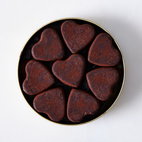 Parisian Chocolate Truffle Hearts (Set of 2)