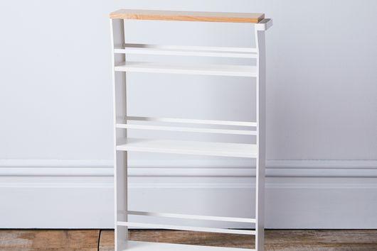 Steel & Wood Top Slim Storage Cart