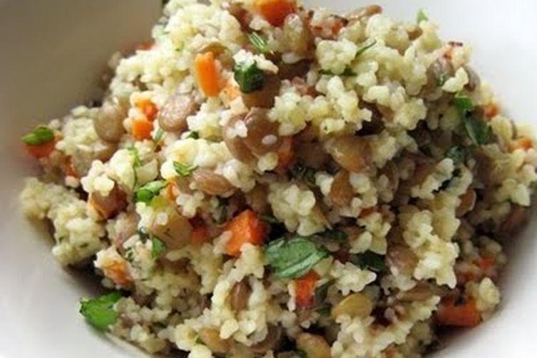 Warm Bulgur & Lentil Salad
