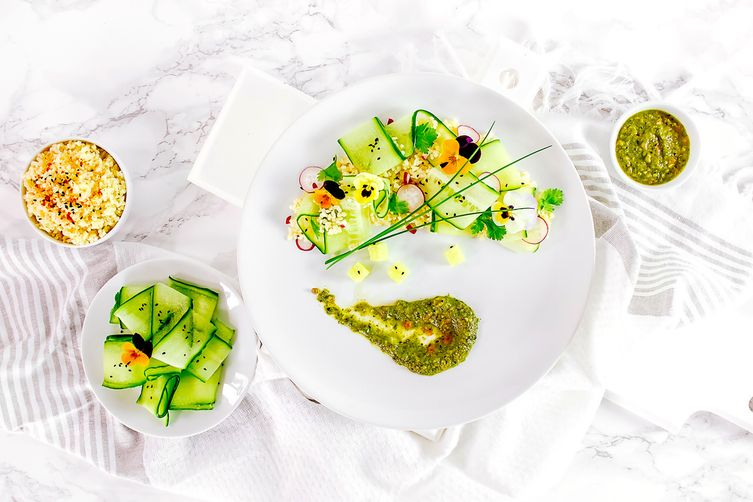 MIDDLE EASTERN CUCUMBER AND BULGUR SALAD
