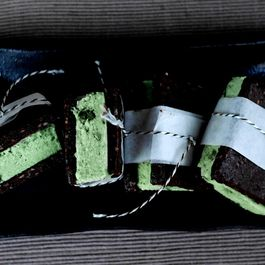 Mint Choc Chip Ice Cream Sandwiches